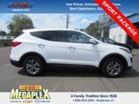 This 2016 Hyundai Santa Fe Sport 2.4 Base in White is