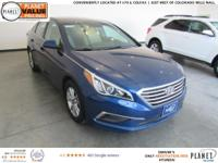 Nouveau Blue 2016 Hyundai Sonata SE 6-Speed Automatic