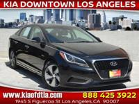 Black 2016 Hyundai Sonata Hybrid Limited 4D Sedan FWD