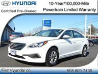 HYUNDAI CERTIFIED- WITH ONLY 9K One Owner SE Sonata