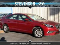 2016 Hyundai Sonata SE Venetian Red 6-Speed Automatic