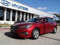 One Owner. Sonata SE CPO, Hyundai Certified, Black