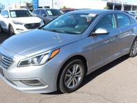 Clean CARFAX. Gray 2016 Hyundai Sonata SE FWD 6-Speed