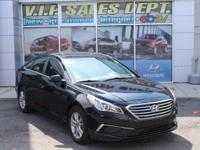 Black 2016 Hyundai Sonata SE FWD 6-Speed Automatic with