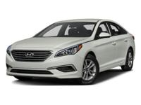 This 2016 Hyundai Sonata 2.4L SE is proudly offered by