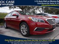 2016 Hyundai Sonata SE in Red. Cloth. Steady as she