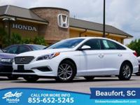 2016 Hyundai Sonata in White. Stability and traction