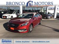 Red 2016 Hyundai Sonata Sport FWD 6-Speed Automatic