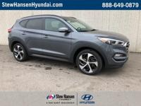 Certified. Coliseum Gray 2016 Hyundai Tucson Limited