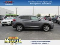 This 2016 Hyundai Tucson SE in Gray is well equipped