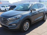 Clean CARFAX. Gray 2016 Hyundai Tucson SE FWD 6-Speed