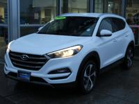Certified. Winter White 2016 Hyundai Tucson Rare Sport