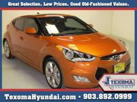 Ceertified Pre-Owner Veloster Panoramic Sun-Roof Texoma