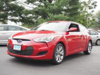 2016 Hyundai Veloster Boston Red CARFAX One-Owner.