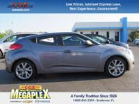 This 2016 Hyundai Veloster in Triathlon Gray is well