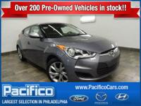 All in One Central Location. This 2016 Veloster is for