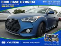 2016 Hyundai Veloster Turbo  in Blue and 20 year or