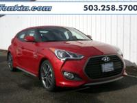 2016 Hyundai Veloster Turbo I4 Red TGH internet priced.