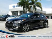 2016 HYUNDAI VELOSTER TURBO EDITION with a 1.6L I4 F