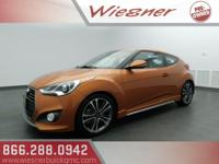 Recent Arrival! Orange 2016 Hyundai Veloster Turbo FWD