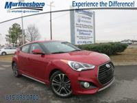 2016 Hyundai Veloster Turbo Red EXCLUSIVE LIFETIME
