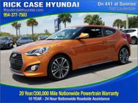 2016 Hyundai Veloster Turbo  in Orange and 20 year or