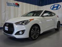 White 2016 Hyundai Veloster Turbo FWD 7-Speed EcoShift