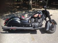 Just under 500 miles on this 2016 Indian Chief Dark