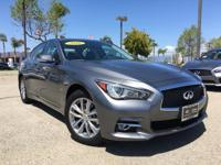 Options:  2016 Infiniti Q50 2.0T Premium|Gray|2.0