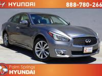 CARFAX One-Owner. Clean CARFAX. Gray 2016 INFINITI Q70