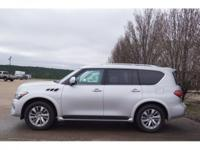 Silver 2016 INFINITI QX80 AWD 7-Speed Automatic 5.6L