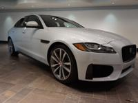 This 2016 Jaguar XF S is offered in Glacier White