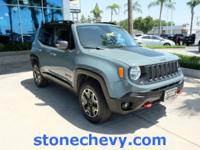 Clean CARFAX. 2016 Jeep Renegade Trailhawk 9-Speed