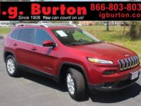 2016 Jeep Cherokee Latitude CARFAX One-Owner. Clean