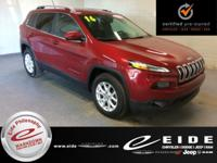 This 2016 Jeep Cherokee Latitude is Deep Cherry Red