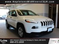 Certified. This 2016 Jeep Cherokee in Bright White