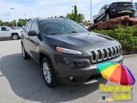 CARFAX One-Owner. Clean CARFAX. Gray 2016 Jeep Cherokee
