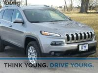 2016 Jeep Cherokee Latitude, 3.2L V6, and 4WD. Drive