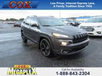 This 2016 Jeep Cherokee Latitude in Black is well