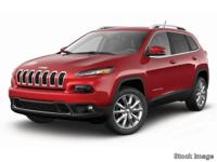 2016 Jeep Cherokee Limited New Price! Certified. CARFAX