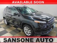 Black 2016 Jeep Cherokee Limited 4WD 9-Speed 948TE