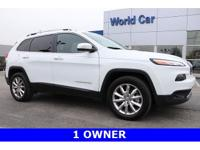 New Price! Cherokee Limited w/ Navigation, 4D Sport