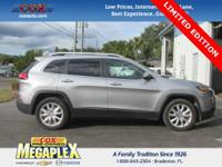 This 2016 Jeep Cherokee Limited in Grey is well