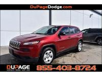 CARFAX One-Owner. Clean CARFAX. Red 2016 Jeep Cherokee