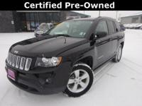 Options:  2016 Jeep Compass Latitude|Black|Carfax