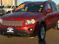 Clean CARFAX. Deep Cherry Red Crystal 2016 Jeep Compass