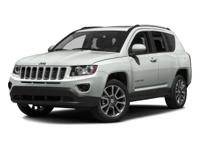 2016 Jeep Compass Latitude 4WD. Clean CARFAX.This