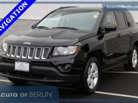 2016 Jeep Compass Latitude Black CARFAX One-Owner. ABS