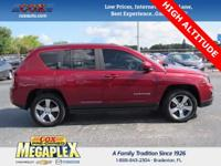 This 2016 Jeep Compass Latitude in Deep Cherry Red