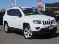 Clean CARFAX. Bright White Clearcoat 2016 Jeep Compass